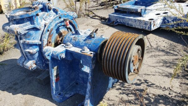 Warman 8 x 6 AH slurry pump, 2 pumps available, manufactured 2008, rated 3500 GPM @ 200' TDH, 250 HP motors. Equip yourself with the gold standard.