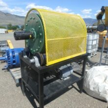 2' x 3' Metal Lined Ball Mill on operating stand